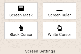 Screen mask and screen ruler for accessibility