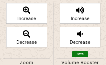 Zoom and volume booster