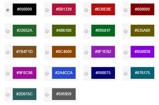 Accessibility toolbar color themes