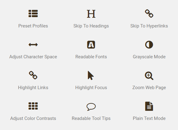 accessibility tools